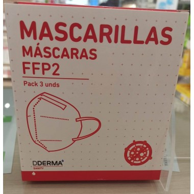 MASCARILLAS FFP2 PACK 3 UNID