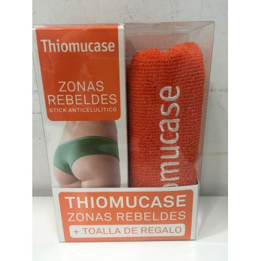 Thiomucase pack stick zonas rebeldes con toalla