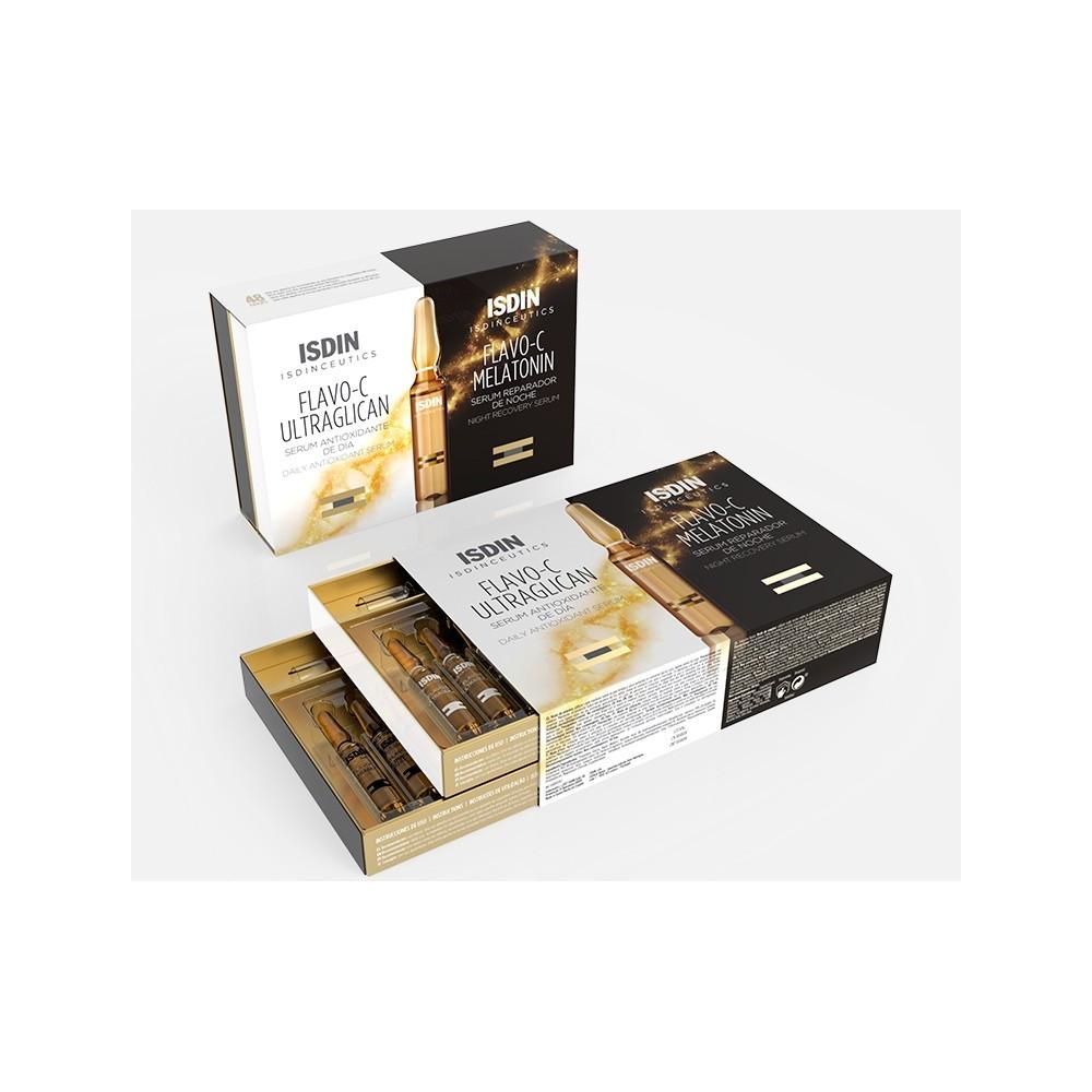 Isdin flavo-c ultraglican y Flavo-c melatonin 20 ampollas